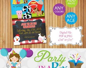 Farm Invitation DIY Printable Digital File