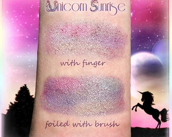 Super Pigmented Sparkle Duochrome *UNICORN SUNRISE* ColorShifting, All Natural, Available in Loose or Pressed  Powder Form *Bonus Samples*