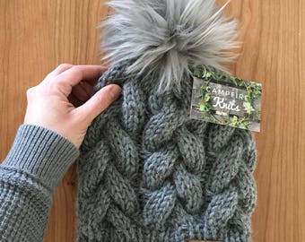 Alpaca Braided Cable Beanie