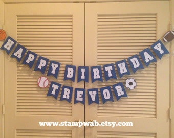 Happy Birthday Sports Banner - Persoanlized