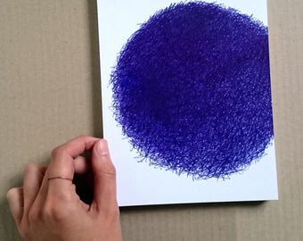 Fine Art | original drawing, ballpoint, blue, art, gift