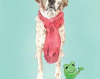 Custom Pet Portrait+Accesories-DIGITAL-Christmas Gift-Personalized Dog Illustration-Gift-Pet Portrait-Printable Art-Dog-Pet Illustration