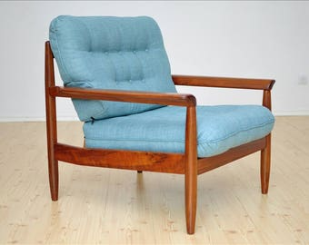 1 of 2 Danish Vintage Chair Design Mid Century Loft Modern