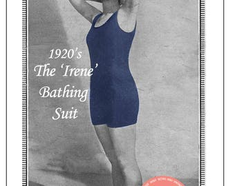 1920's Irene Bathing Suit Vintage Knitting Pattern - PDF Instant Download