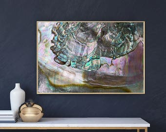 Mineral Photography - (Print #052)  Abalone -  Fine Art Print - Two Paper Choices- Mineral Geode Agate Crystal Decor