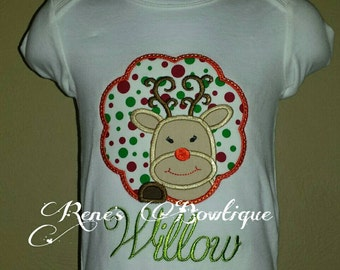 Girl Reindeer Shirt