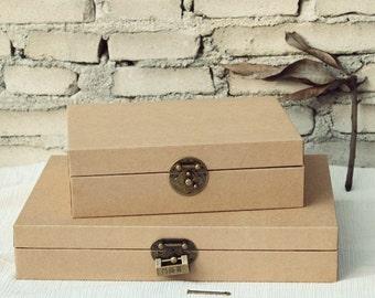 Handmade Kraft Box // Gift Box // Paper Box // Album Storage