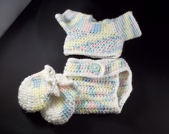 4 Piece  Set For 20 inch Lil' Baby Doll - Multi Pastel - FREE SHIPPING