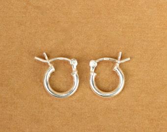 Hoop earrings - silver hoop earrings - small hoop earrings - simple - everyday earrings  - silver hoops