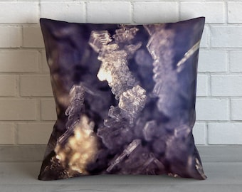 Ice Crystals 2 Pillow