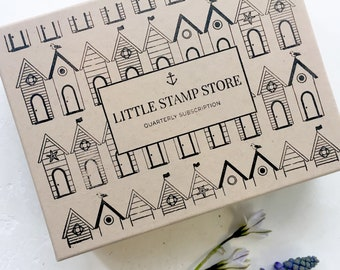 Subscription Gift - Quarterly subscription box - Rubber stamp subscription - Little Stamp Store subscription box - Subscription gift - Her