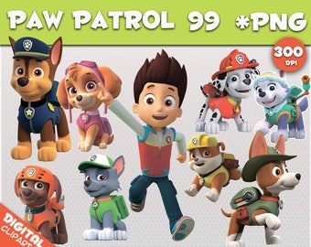 paw patrol clipart 99 PNG 300dpi Images Digital Clip Art Instant Download Graphics transparent background Scrapbook birthday Nickelodeon