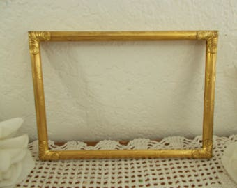 Vintage Ornate Gold Metal Picture Frame 5 x 7 Photo Decoration Midcentury Hollywood Regency Home Decor Fall Shabby Chic Wedding Gift Him Her