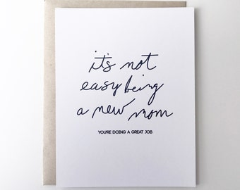 New Mom Card. Mother's Day for new mom. First Mothers Day Card. Happy Mothers Day.