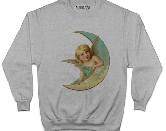 Angel On The Moon Sweatshirt