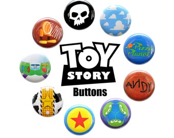 Toy Story Inspired Pinback Button Set