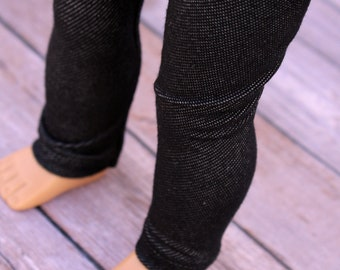 Fits like American Girl Doll Clothes - Black Jeggings   18 Inch Doll Clothes