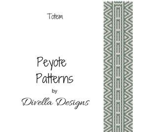 Peyote Pattern, Totem, Beading Pattern, Earring tutorial, Clasp Tutorial