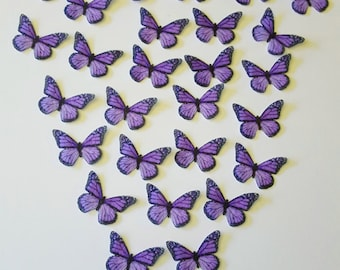 Edible Monarch Butterflies, Double-Sided 3D Wafer Paper Small Monarch Butterflies for Cakes, Cupcakes or Cookies.