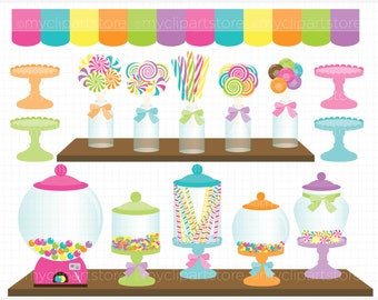 Clipart - Candy Shoppe - Digital Clip Art (Instant Download)