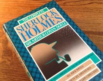 The Complete Sherlock Holmes by Sir Arthur Conan Doyle vintage book, Hardcover, Sherlock Holmes Collection, Bookworm Gift, Mystery