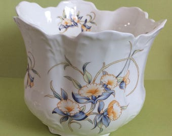 Aynsley Just Orchids Crown Shaped vase Planter 1985-1987