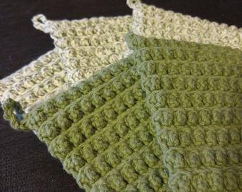 Cotton scrubbie washcloths