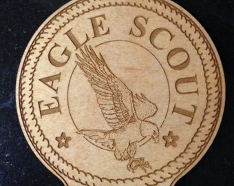Eagle Scout Ornament Laser Engraved