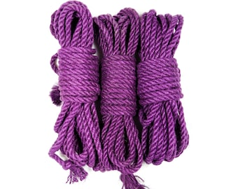 Jute bondage rope - Purple