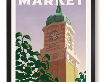 Cleveland Ohio West Side Market Giclee print unframed and framed