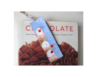 CUPCAKE Bookmark * Hand Painted * One Of A Kind * Dessert Art By Rodriguez