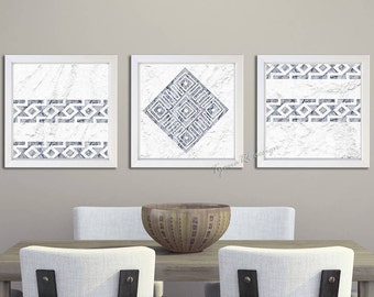 Printable set Geometric print set African print Black White wall art Marble print African decor Kitchen decor Bathroom decor Trending art