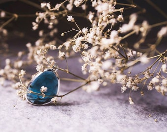 Bezel Rose cut London Blue hydro- quartz