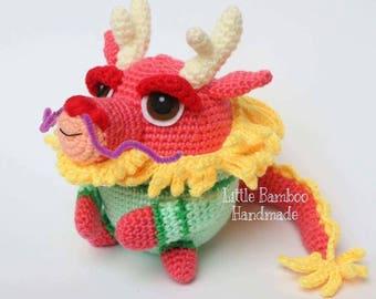 PATTERN - Dragon The 12 Zodiac Egg - Crochet Pattern, pdf