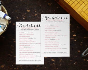 Blush Bachelorette Scavenger Hunt Party Game. Instant Download Printable at Home. Glam Bachelorette Party. 2 Games 1 Page. Blush Pink Gray .