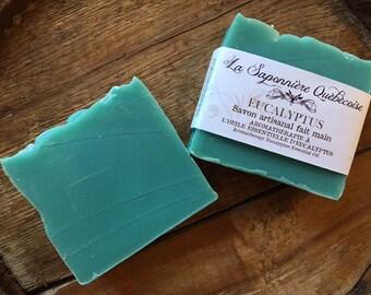 Savon Eucalyptus, Savon artisanal fait main 100% naturel, Eucalyptus Soap, Cold process All Natural Handmade Soap