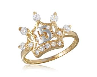 Princess Crown Gold Ring