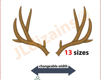 Antlers embroidery design. Antler embroidery design. Embroidery design antlers. Horns embroidery design. Antlers. Machine embroidery design.