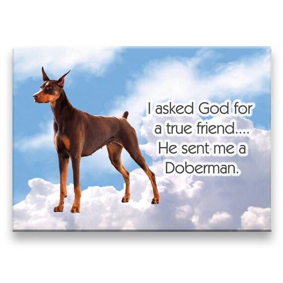 Doberman Pinscher True Friend Fridge Magnet No 2