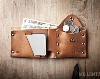Leather Coin Wallet, Coin Wallet, Change Wallet, Leather Wallet, leather bifold, leather wallet 017