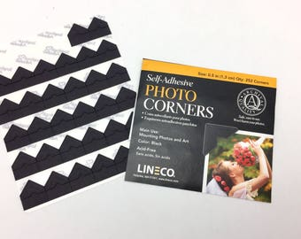 Lineco Black Photo Corners