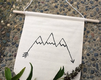 Mountain wall hanging banner flag canvas