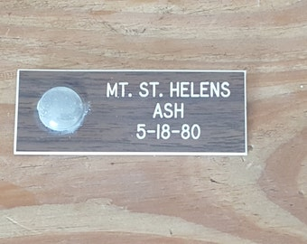 Mt. St. Helens ash souvenir from 1980