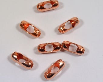 4.5mm Ball Chain Connectors - 100% Copper