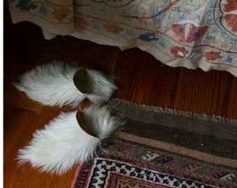 Free shipping Goat leather Moroccan hairy Moroccan Babouche slippers