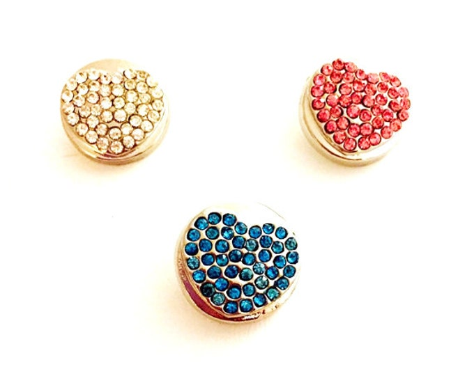 Snap Jewelry, Snap Buttons,  Snap Charms, Rhinestone Snap Buttons, 18mm Snap Charms for Snap Necklaces, Snap Earrings, and Snap Bracelets