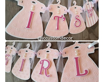 Its A Girl Baby Shower Banner-Its A Girl Banner-Dress Banner-Baby Girl Banner-Its A Girl-baby shower banner-Customized-Girl Baby Banner