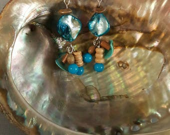 Turquoise Shell Earrings