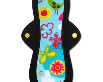 """Washable Cloth Menstrual Pad (10 inch Light, Moderate, or Heavy in """"Sky"""" Minky)"""