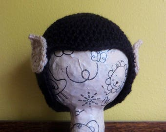 Spock Wig Hat, baby size, 6-12 months